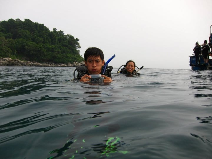 Graphic designers gone on a diving trip in tioman
