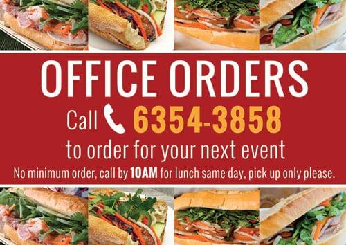 banh mi meetanders office orders card design