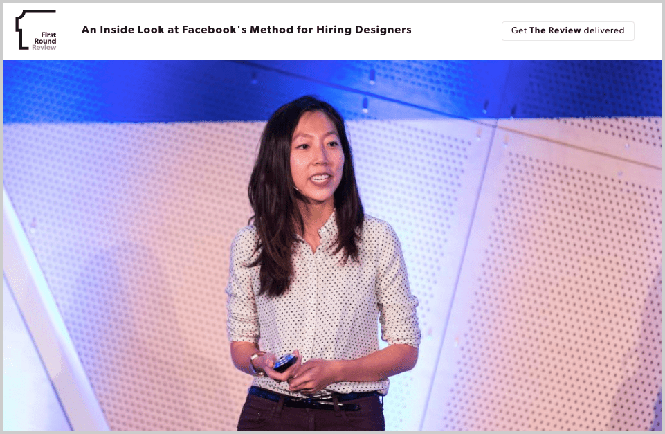 How Julie Zhuo of Facebook hire the best designers