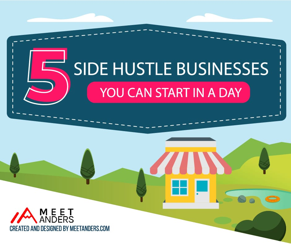 5 side hustles to start in one day featured