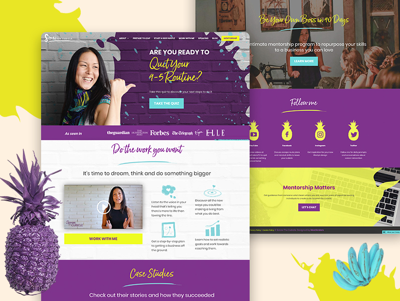 Screw the cubicle by Lydia Lee website design