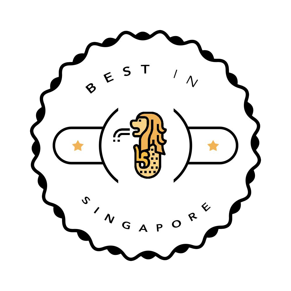 Best in Singapore badge with merlion
