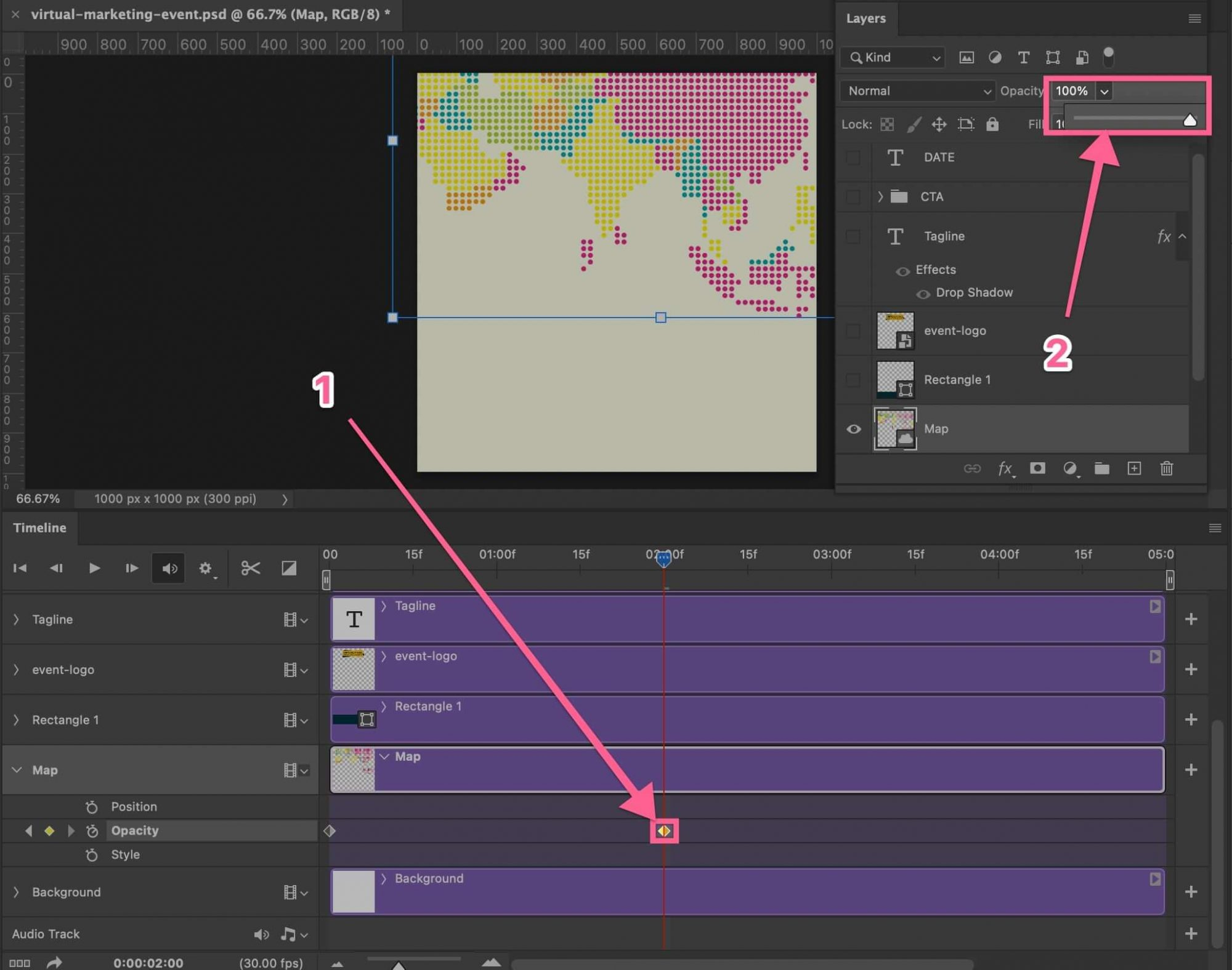 Make layer opacity to be 100% in Photoshop